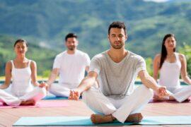 Medytacja w lotosie w grupie